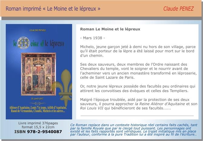 Roman historique médiéval Le Moine et le lépreux